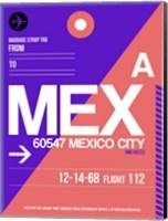 MEX Mexico City Luggage Tag 1 Fine Art Print