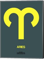 Aries Zodiac Sign Yellow Fine Art Print