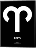 Aries Zodiac Sign White Fine Art Print