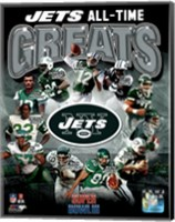 New York Jets All Time Greats Composite Fine Art Print