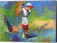 Kid Golf Fine Art Print