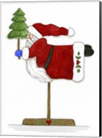 Santa On A Stick Fine Art Print