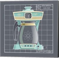 Galaxy Coffeemaid - Aqua Fine Art Print