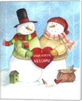 Warm Welcome Snowman Fine Art Print