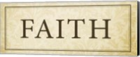 Faith Plaque Fine Art Print
