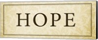 Hope Plaque Fine Art Print