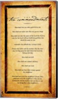 The Ten Commandments Fine Art Print