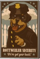 Rottweiler Security Fine Art Print