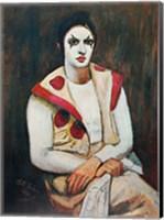 Clown With Black Wig Fine Art Print