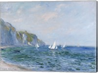 Cliffs and Sailboats at Pourville Fine Art Print