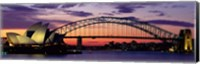 Sydney Harbor Bridge At Sunset,  Australia Fine Art Print