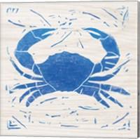 Sea Creature Crab Blue Fine Art Print