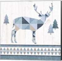Nordic Geo Lodge Deer I Fine Art Print