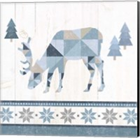 Nordic Geo Lodge Deer II Fine Art Print