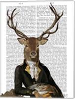 Deer in Chair Fine Art Print