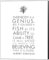 Everybody is a Genius Fine Art Print