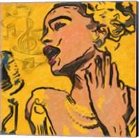 Lady Blues Fine Art Print