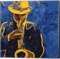 Sax Blues Fine Art Print