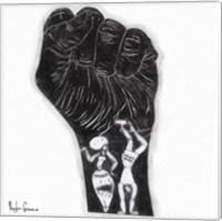 Black Fist Fine Art Print