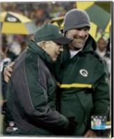 Brett Favre & Bart Starr at Favre's number retirement ceremony at Lambeau Field- November 26, 2015 Fine Art Print