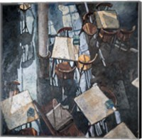 Shadows at the Zurich Cafe Fine Art Print