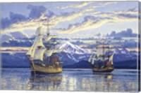Captain Van Couver Birch Bay, Wa 1792 Fine Art Print