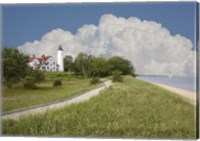 Pointoquois Lighthouse, Bay Mills, Michigan 08 Fine Art Print