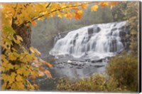 Lower Bond Falls In Autumn #2, Bruce Crossing, MI 11 Fine Art Print