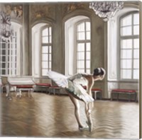 Rehearsing Ballerina Fine Art Print