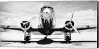 Passenger Airplane on Runway Fine Art Print