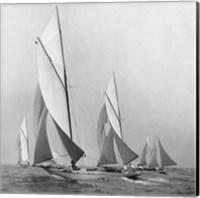 Sailboats Sailing Downwind, 1920 (Detail) Fine Art Print