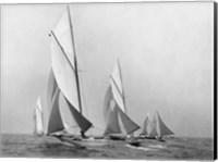 Saliboats Sailing Downwind, ca. 1900-1920 Fine Art Print