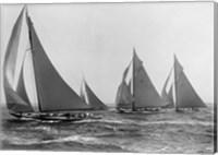 Sloops at Sail, 1915 (Detail) Fine Art Print