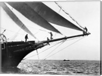 Ship Crewmen Standing on the Bowsprit, 1923 Fine Art Print