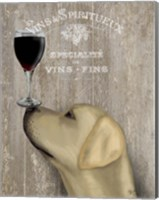 Dog Au Vin Yellow Labrador Fine Art Print