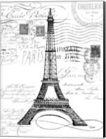 Eco Vintage Paris 1 Fine Art Print