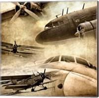Vintage Plane Montage 82530 Fine Art Print