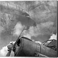 Vintage Planes Maps BW Fine Art Print