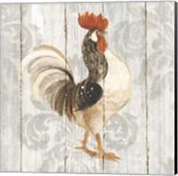 Farm Friend I on Barn Board Fine Art Print