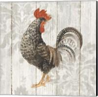 Farm Friend II on Barn Board Fine Art Print