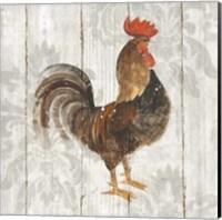 Farm Friend III on Barn Board Fine Art Print