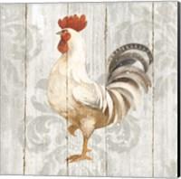 Farm Friend IV on Barn Board Fine Art Print