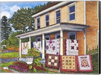 Quilts Not By Bread Alone, Lancaster Pa Fine Art Print