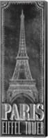 Chalkboard - Eiffel Tower 2 Fine Art Print