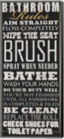 Bathroom Rules (Black) Fine Art Print