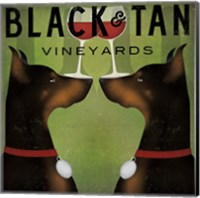 Black and Tan Vineyards Fine Art Print