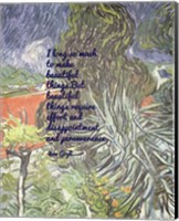 Beautiful Things - Van Gogh Quote 1 Fine Art Print