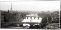 Bridges over the Seine River, Paris Fine Art Print
