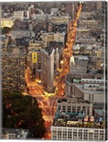 Aerial View of Flatiron Building, NYC Fine Art Print
