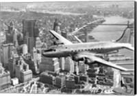 Flying over Manhattan, NYC Fine Art Print